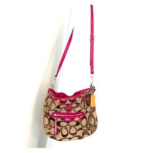 Coach pink hobo bag